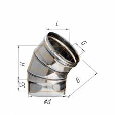 Колено угол 135 (430/0,5мм) Ф115