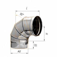 Колено угол 90 (430/0,5мм) Ф115