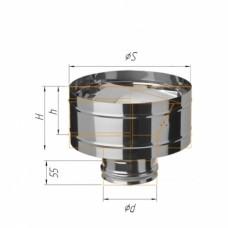 Зонт-Д с ветрозащитой (430/0,5 мм) Ф115